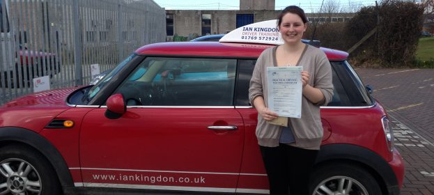 Bryony passed her test 20th march