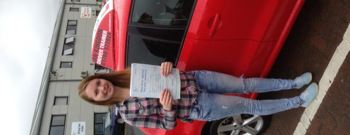 Emma Drew passed her driving test.