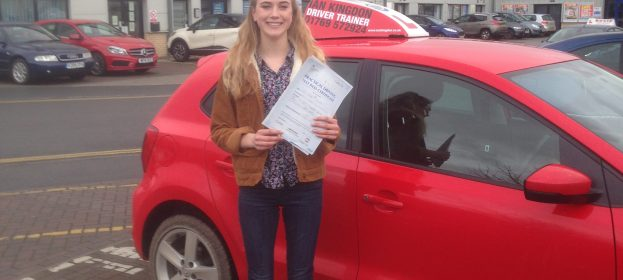 Tabitha Waldron passed her Driving Test first time!!!!