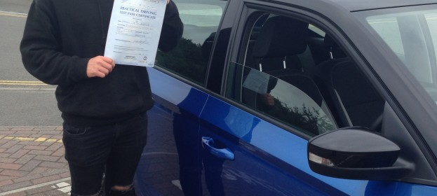 Sam Ashdown passed his Driving Test Today with flying colours.