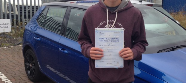 Byron passed Driving Test today 1st time !!!!!