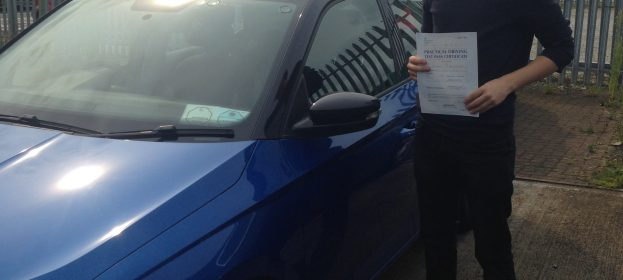Great first time Driving Test pass by Callum Hutchings in Barnstaple this week.