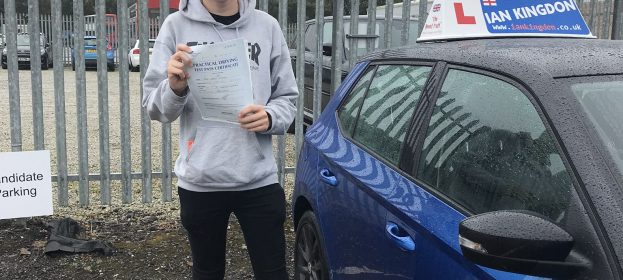 Jamie Chivers passed his driving test today with only 2 minors, great drive chap!