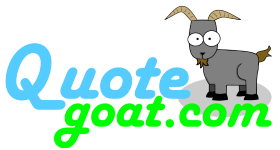 quote goat logo rectangle
